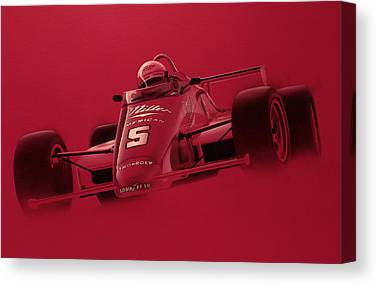 Indy Car Canvas Prints