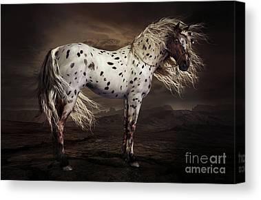 Horses Digital Art Canvas Prints