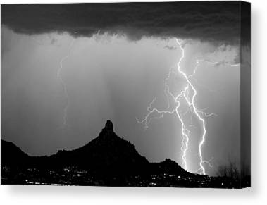 Lightning Canvas Prints