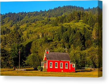 Red School House Photographs Canvas Prints