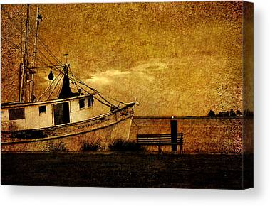 Boats In Harbor Canvas Prints