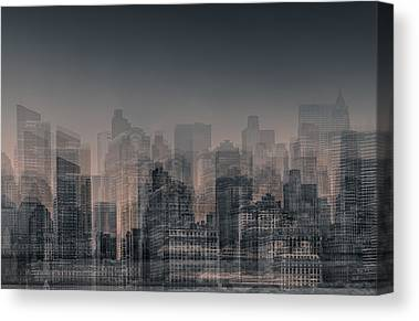Urban Scenes Digital Art Canvas Prints