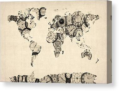 Antique Map Canvas Prints