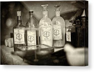 Old Philadelphia Bottles Canvas Prints