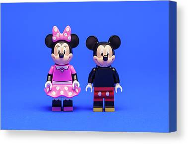 Mickey And Minnie Mouse Canvas Prints
