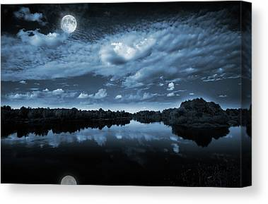 Lake Surface Canvas Prints