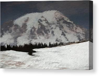 Snow Melt Mixed Media Canvas Prints