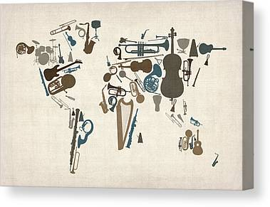 Percussion Instruments Canvas Prints