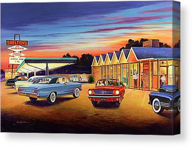 Diner Canvas Prints