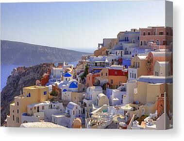 Greek Islands Canvas Prints