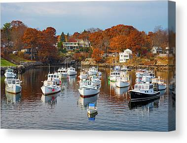 Fall In Maine Canvas Prints