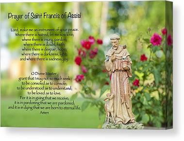 St Francis Prayer Canvas Prints