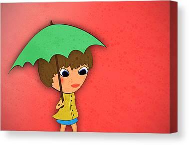 Raincoat Canvas Prints