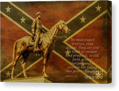 Statue Of Confederate Soldier Canvas Prints