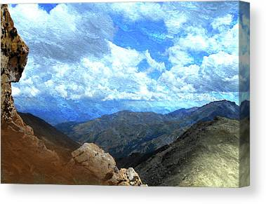 Rocky Mountains Mixed Media Canvas Prints