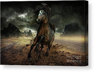 Lightening Digital Art Canvas Prints