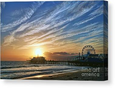 Pier Digital Art Canvas Prints