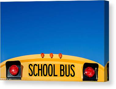 School Bus Canvas Prints