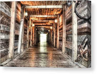 Mineshaft Wood Canvas Prints