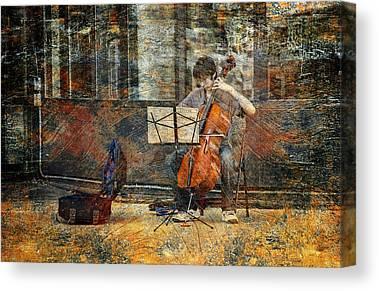 Street Muscians Canvas Prints