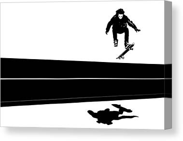 Skateboarding Canvas Prints