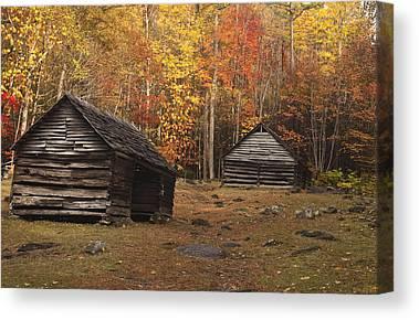 Abandoned Cabins Smoky Mountains Canvas Prints