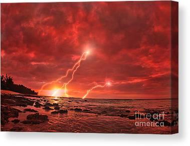 Lightning Strike Canvas Prints