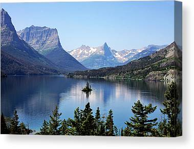 Mountain Valley Digital Art Canvas Prints