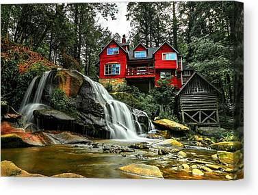 Mill Shoals Falls Canvas Prints