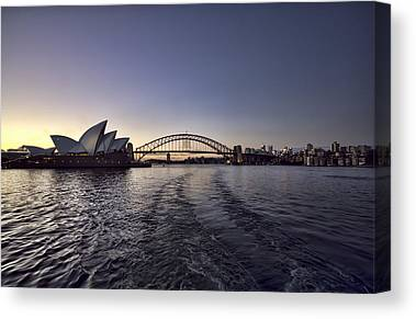 Sydney Skyline Canvas Prints