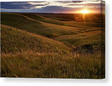 Prairie Sunrises Canvas Prints