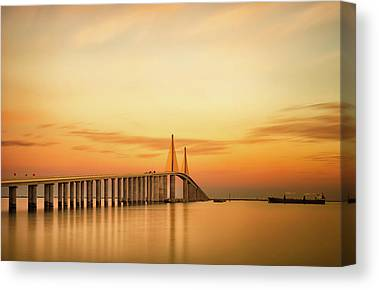 Sunshine Skyway Bridge Canvas Prints