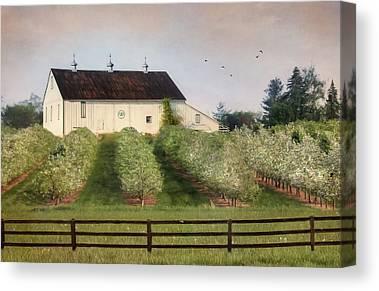 Farming Barns Mixed Media Canvas Prints
