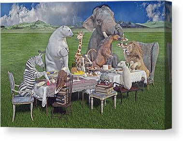 Zebra Cake Canvas Prints