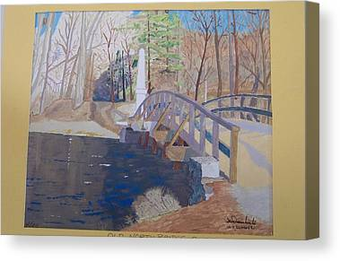Concord Mass Paintings Canvas Prints