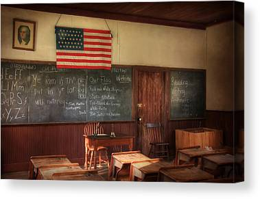 One Room School Houses Mixed Media Canvas Prints