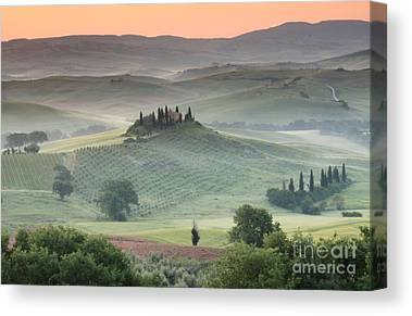 Tuscan Sunset Photographs Canvas Prints