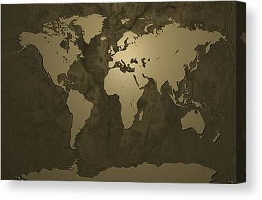 Bronze Digital Art Canvas Prints