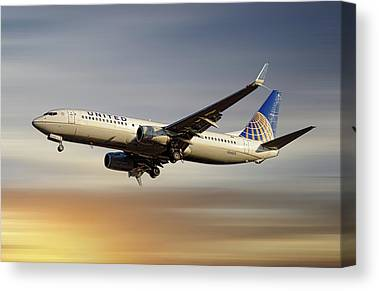 United Airlines Canvas Prints