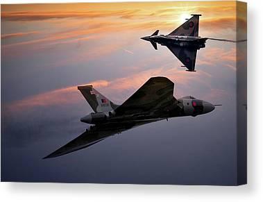 Evening Sky Mixed Media Canvas Prints