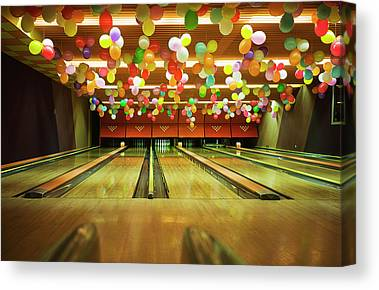 Ten Pin Bowling Canvas Prints