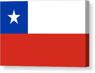 Flag Of Chile Canvas Prints