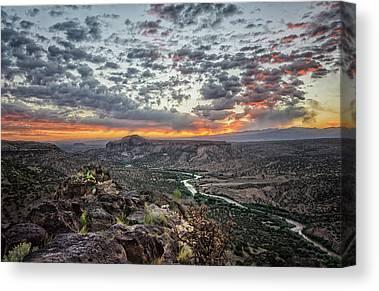 Rio Grande River Photographs Canvas Prints