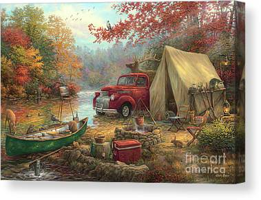 Camping Canvas Prints