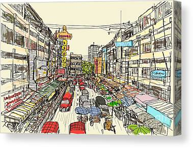 Townscape Canvas Prints