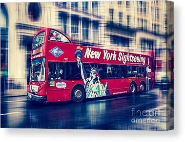 Hop On Hop Off Bus Canvas Prints