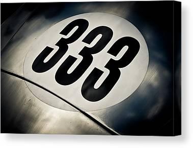 Racecar Number Canvas Prints