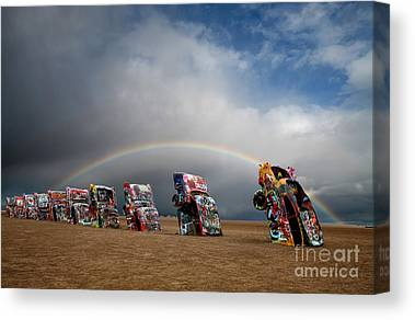 Cadillac Ranch Canvas Prints