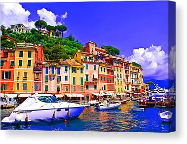 Genoa Digital Art Canvas Prints