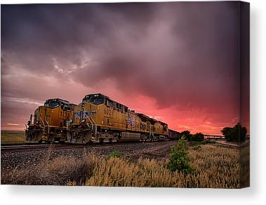 Caboose Canvas Prints